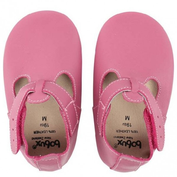 Bobux Mädchen Krabbel-Sandalen pink Klettverschluss