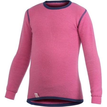 Woolpower Langarm Funktionsshirt seastar rose Unterhemd Crewneck 200 Wolle Ökotex100