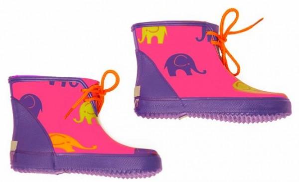 CeLaVi Booties Kurzschaft Gummistiefel Kautschuk pink lila Elephants