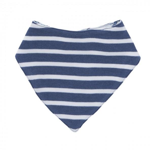 Baby Halstuch blau geringelt Bio-Baumwolle