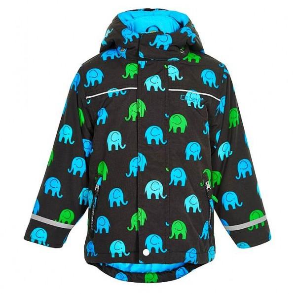 CELAVI Winterjacke grey black/türkis Elephants Outdoorjacke atmungsaktiv