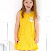 Mädchen Sommerkleid gelb Slub Jersey Bio-Baumwolle