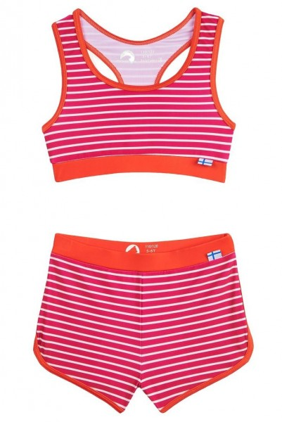 Finkid Luoto Bikini Set raspberry/offwhite mit UV Schutz
