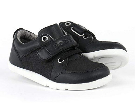 Bobux ATTICA Kinderschuhe schwarz/weiß Sneaker i-walk