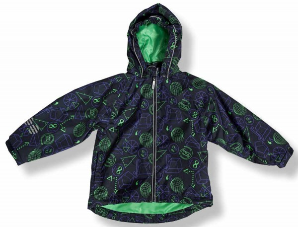 Minymo Baby Outdoorjacke Eli02 navy/grün atmungsaktiv