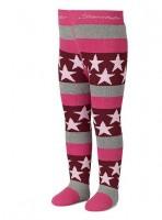 Sterntaler Mädchen Thermostrumpfhose pink grau Sterne