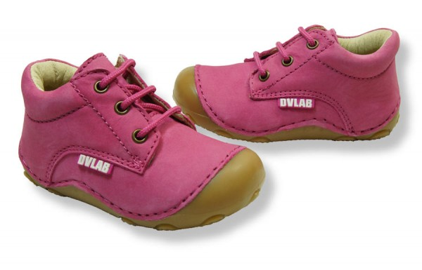 Develab Walki fuchsia pink Lauflernschuhe Leder extra weich