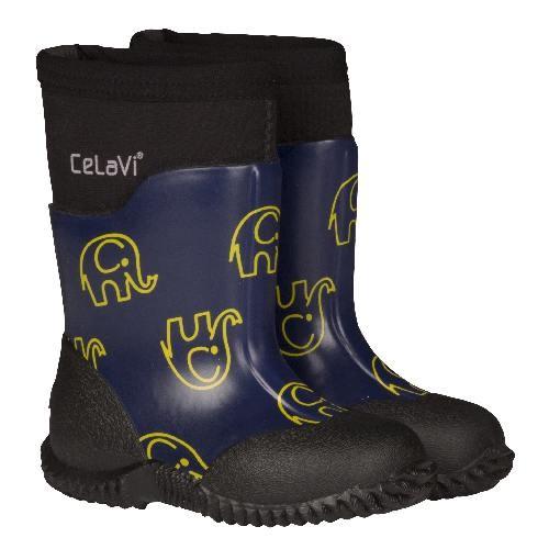 Blue Depths Celavi Gelb Neopren Elephants Boots Gummistiefel XN8OwnP0k