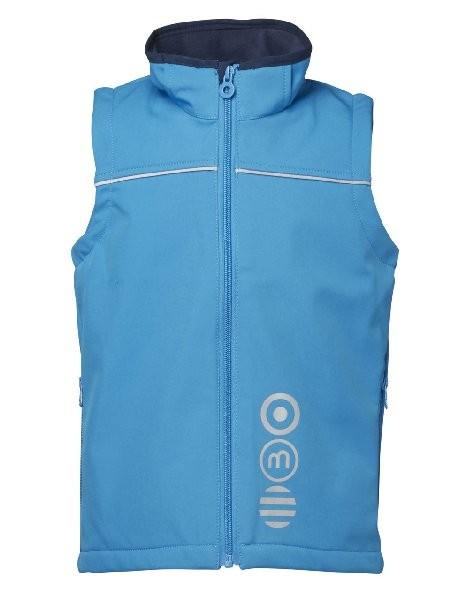 Minymo Softshell Weste Basic46 clear blue
