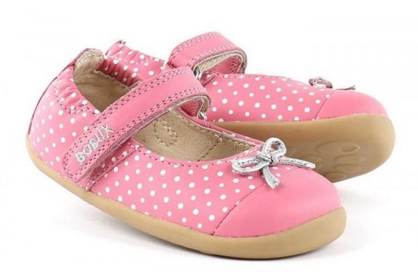 Bobux Step up Ballerina pink Dots Lauflernschuhe