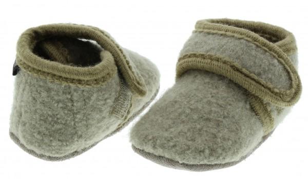 Celavi Hausschuhe beige Wolle Kinderhausschuhe