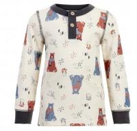Celavi Kinder Langarmshirt Woll-Shirt Bär