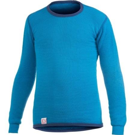 Woolpower Langarm Funktionsshirt dolphin blue Unterhemd Wolle