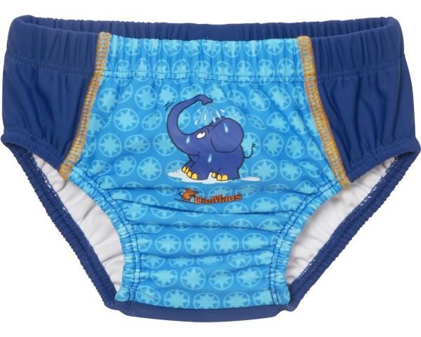 Baby Schwimmwindel Elefant Babybadehose blau