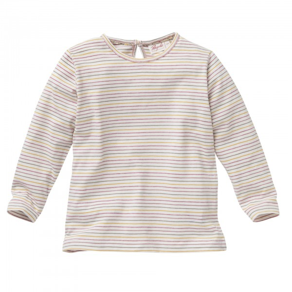 People wear Organic Mädchen Langarmshirt bunt geringelt