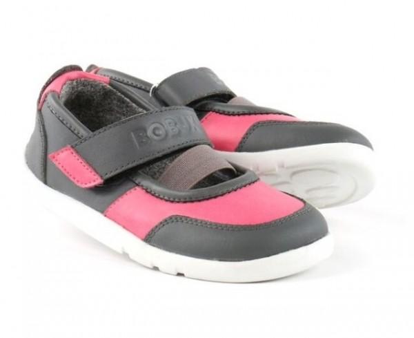Bobux i-Walk VITRA grau/pink Mädchen Sandalen Ballerina