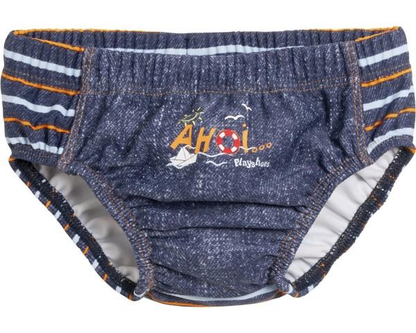 Baby Schwimmwindel jeansblau Ahoi