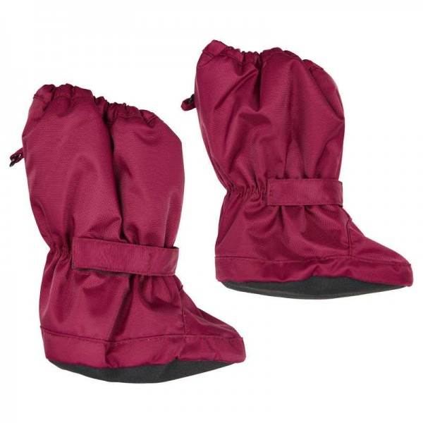 Minymo Footies Thermo Booties Le95 red plum gefütterte Stiefelchen