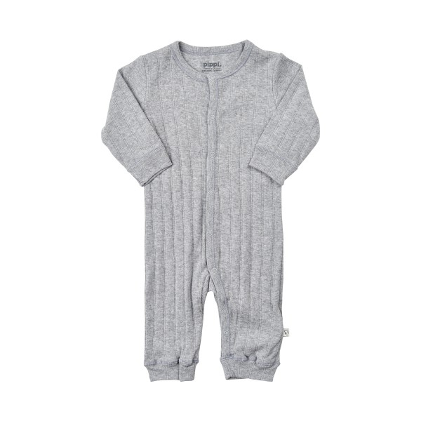 Pippi Baby Overall GOTS grau melange Organic Bio Baumwolle