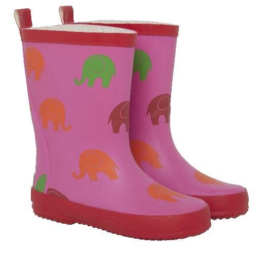 CeLaVi Gummistiefel Naturkautschuk pink/rot Elefanten