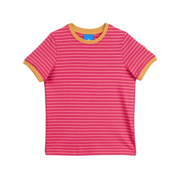 Finkid Renkaat raspberry/rose Mädchen T-Shirt geringelt