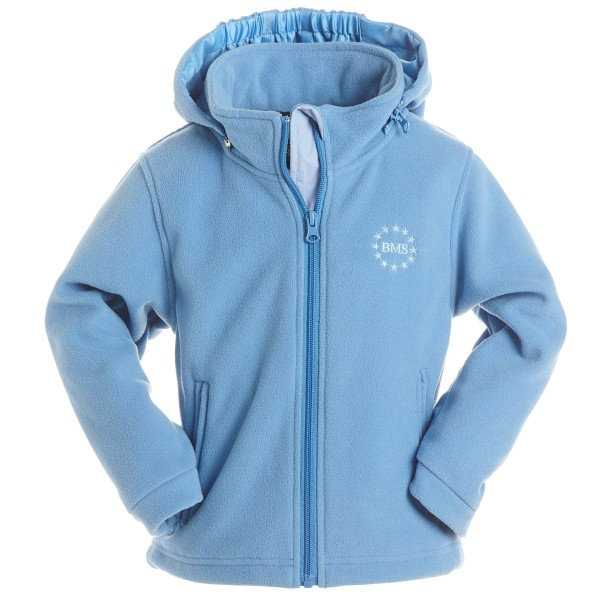 BMS Fleecejacke skyblue Antarctic-Fleece mit Kapuze