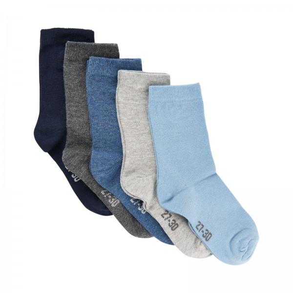 Minymo Socken blue Shadow 5er Sparpack Jungen Söckchen Mix