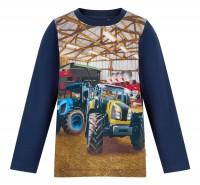 Minymo Traktor + Mähdrescher Langarmshirt für Kinder