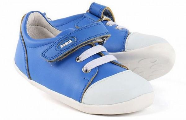 Bobux Step Up Lauflernschuhe Scribble blau weiß