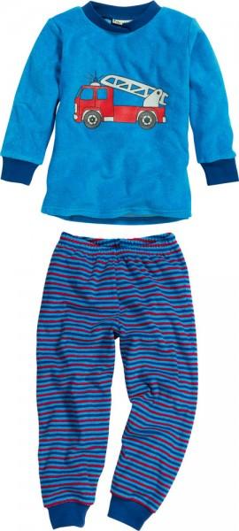 Jungen Frottee Schlafanzug Feuerwehrauto blau/rot