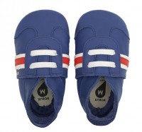 Bobux Classic Sport blau Leder Krabbelschuhe