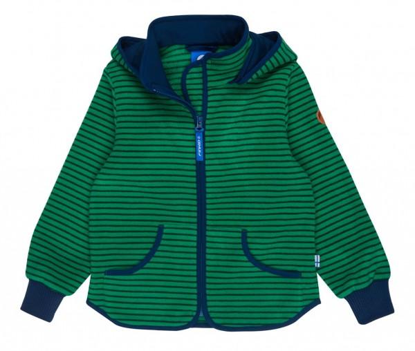 Finkid TONTTU STRIPED leaf/mosaic Zip-In Fleece Jacke mit Kapuze
