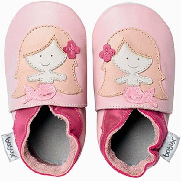 Bobux Soft sole Hausschuhe Meerjungfrau pink