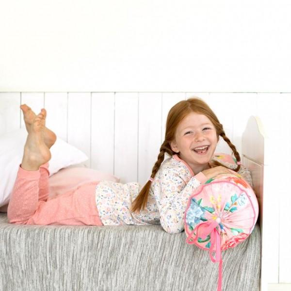 Mädchen Schlafanzug Blumenwiese Pyjama Bio-Baumwolle