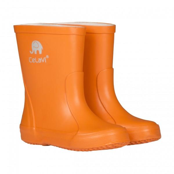 CeLaVi Kautschuk Gummistiefel uni orange