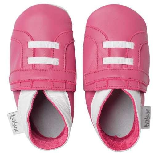 Bobux Leder Hausschuhe Trainer pink Soft sole