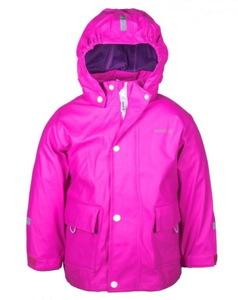 Kamik Kinder Regenjacke Splash neon pink magenta mit Textilfutter