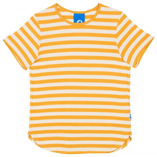 Finkid Maalari Blockstreifen T-Shirt golden yellow / offwhite