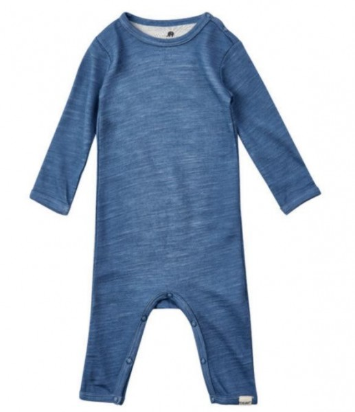 Celavi Overall Wolle & Bambus blau melange