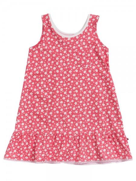 Mädchen Sommerkleid rot Blümchen Jersey Trägerkleid
