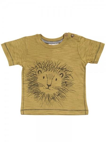 People wear Organic T-Shirt Löwe khaki Kurzarm