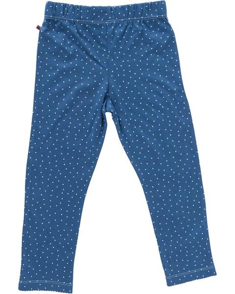 People wear Organic Jersey Leggings himmelblau Dots Bio-Baumwolle