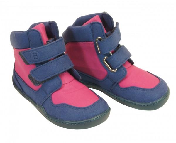 bLifestyle KOALA pink / blau Winterboots vegan mit Minimalsohle