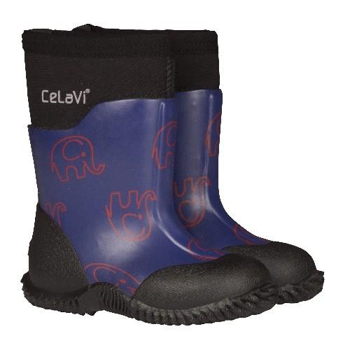 CeLaVi purple rot / Elephants Neopren Gummistiefel Boots