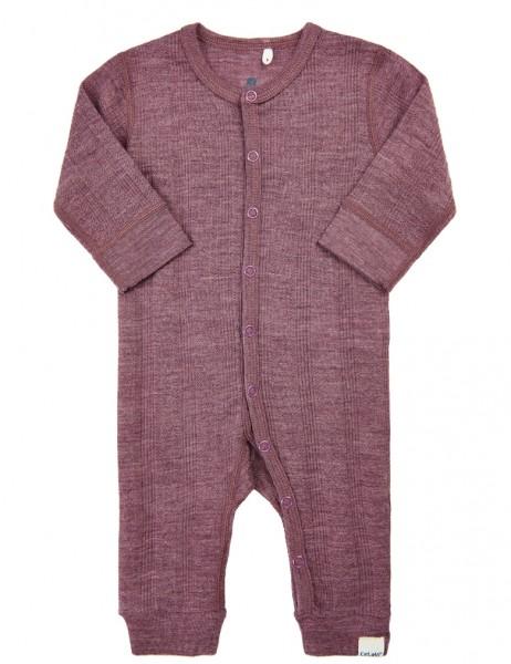 Celavi Baby Schlafanzug beere Woll-Overall Ökotex100