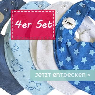 Pippi Halstücher im 4er Pack