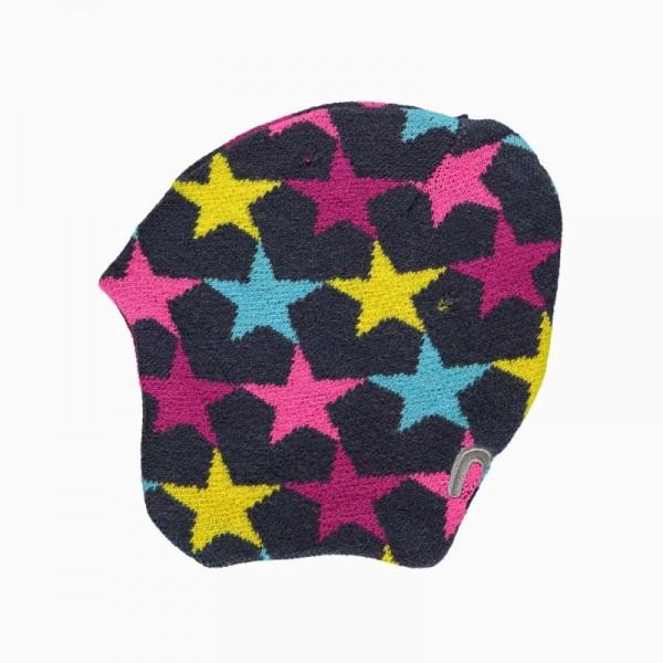 Minymo Wintermütze Strickmütze Thunder49 pink Sterne