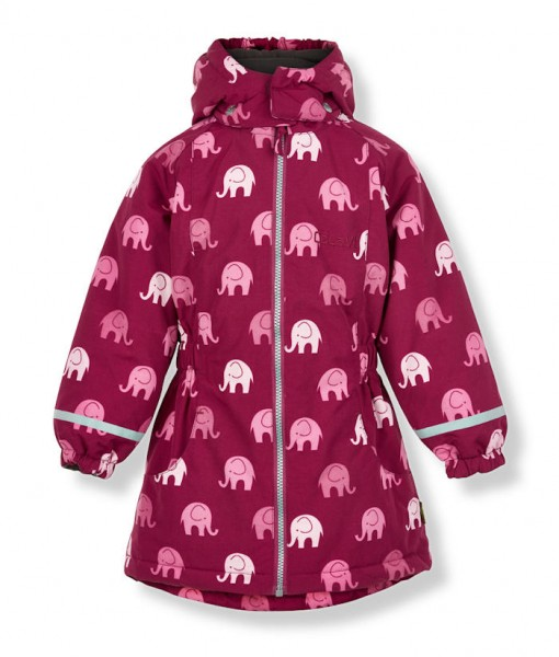 CELAVI Winterjacke beet red / rose Elephants Outdoorjacke atmungsaktiv