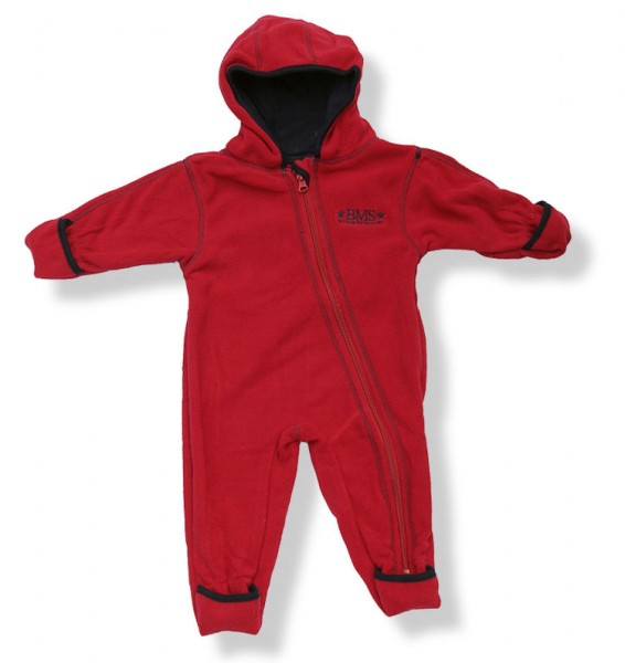 BMS Baby Fleeceoverall rot/navy
