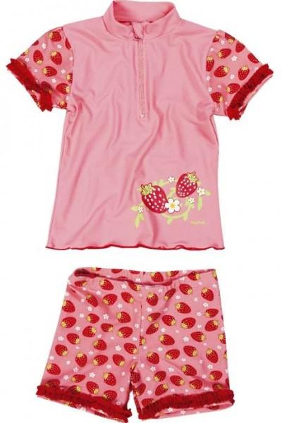 UV-Schutz Bade-Set für Mädchen Sonnenschutzanzug 2 Teile Erdbeeren
